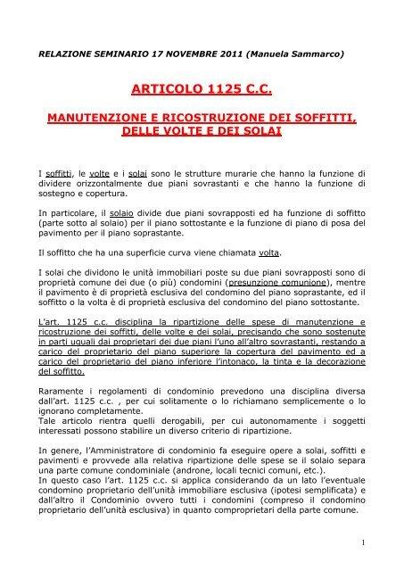 Articolo 1125 Codice Civile Anaci Roma