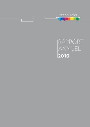 RAPPORT ANNUEL 2010 - Technicolor