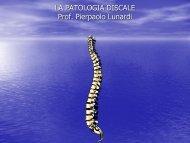 La patologia discoartrosica - Facoltà di Medicina e Chirurgia
