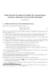 Modi naturali ed analisi di stabilità dei sistemi dinamici lineari
