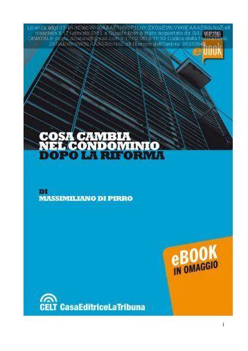 cosa cambia nel condominio dopo la riforma (ebook) - CeSVoP