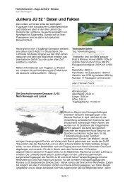 Junkers JU 52 * Daten und Fakten - Technikmuseum