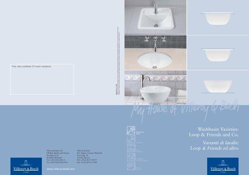Piastrelle Villeroy Boch.Washbasin Varieties Loop Friends And Co Villeroy Boch