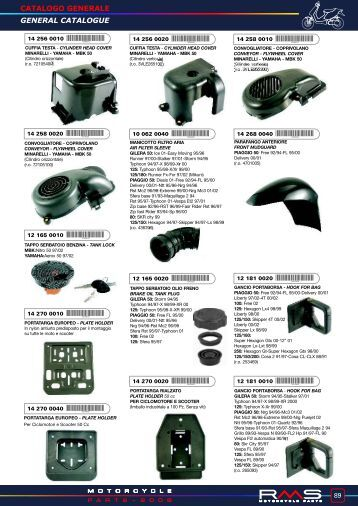 catalogo generale general catalogue - Scooter racing shop