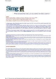 Visualizza (53K) - LESIONI CUTANEE CRONICHE
