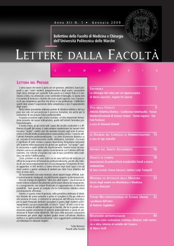 Lettere 2 nuovo rimpagin - Facoltà di Medicina e Chirurgia ...