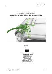 Whitepaper Elektromobilität: Optionen für ... - Technomar