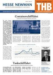 Containerschifffahrt Tankschifffahrt - WM AG