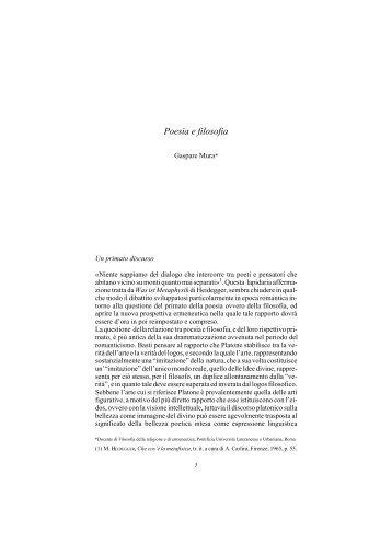 Poesia e filosofia - Centro Studi e Ricerche Aleph