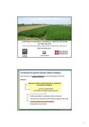 i metodi per l'agricoltura biologica e i risultati ottenuti. - Regione ...