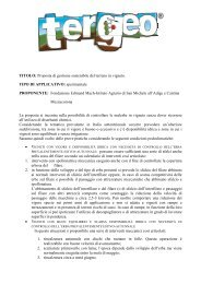 TITOLO: Proposta di gestione sostenibile del terreno in vigneto ...