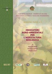 indicatori agro-ambientali per l'agricoltura biologica - Inea