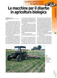 Le macchine per il diserbo in agricoltura biologica - Crpv