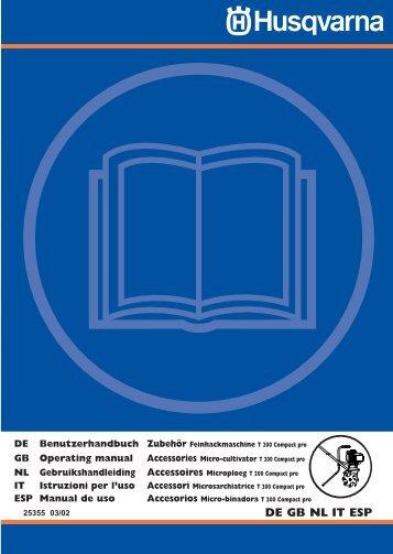 OM, T200 Compact pro, Accessories, 2003-03, DE, EN ... - Husqvarna
