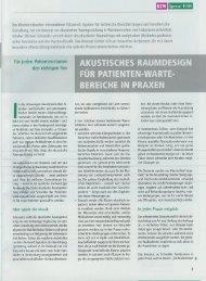 Artikel: Akustisches Raumdesign für Patienten ... - Tecontrol