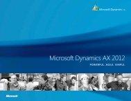 Microsoft Dynamics AX 2012 Brochure - Tectura
