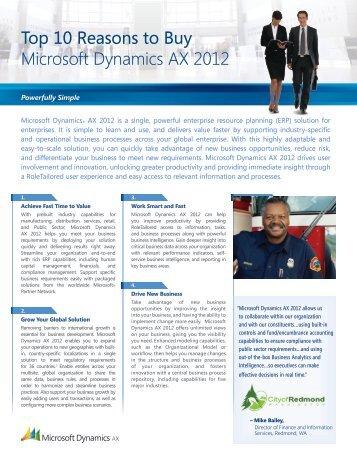 Top Ten Reasons to Buy Microsoft Dynamics AX 2012 - Tectura