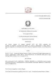 Consiglio di Stato, Sez. IV, 6.5.2011 n. 2713 - Gazzetta Amministrativa