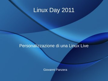 Linux Day 2011 - RCLUG - Linux