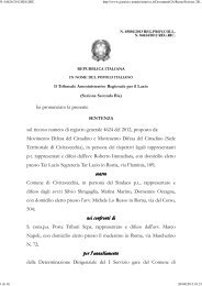 TAR Lazio Roma sez. II bis 15/4/2013 n. 3801. - Appalti e Contratti