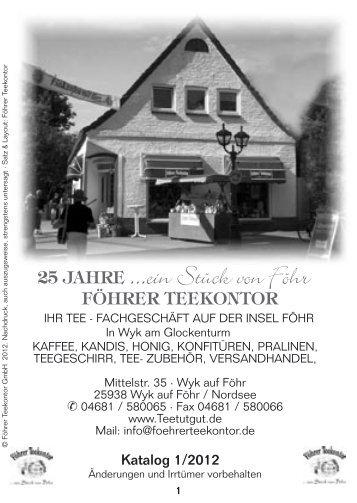 Teeliste 1-2012 25.04..indd - Föhrer Teekontor