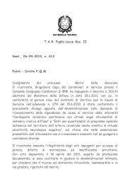 04.06.2012 Domanda di riconoscimento della dipendenza da causa ...