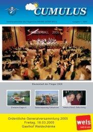 Ordentliche Generalversammlung 2005 Freitag, 18.03.2005 Gasthof ...