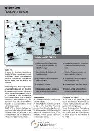 Produktdatenblatt TELCAT (VPN)Produktdatenblatt TELCAT (VPN)