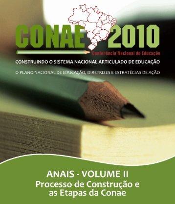 ANAIS - VOLUME II - Fórum Nacional de Educação - Ministério da ...