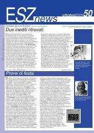 ESZ NEWS n. 50_ottobre 2009.pdf - Edizioni Suvini Zerboni