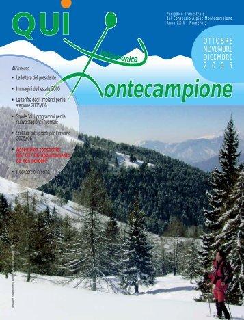qui montecampione n° 3 ottobre-novembre-dicembre 2005