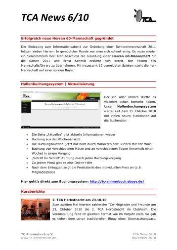 TCA News 6/10 - Tennisclub Ammerbuch e.V.