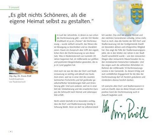 und Dorferneuerung in Zwettl - Stadterneuerung Vorwort