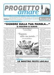 PROGETTO AMARE - Ottobre 2004 - Webdiocesi