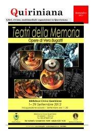 Quiriniana - settembre 2012 - Comune di Brescia