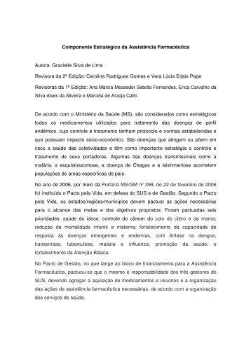 Componente Estratégico da Assistência ... - Portal ENSP