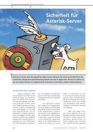 Sicherheit für Asterisk-Server (KES 01/2009, Sebastian Fritsch)