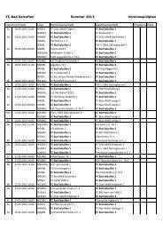 Spielplan Sommer 2013 - TC Bad Salzuflen eV