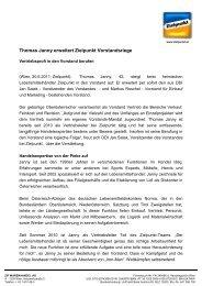Thomas Janny erweitert Zielpunkt Vorstandsriege