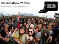 to download the 2012 Media Pack - UK Festival Awards