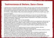 Testimonianza di Stefano, Sara e S Stefano, Sara e ... - Sos Bambini