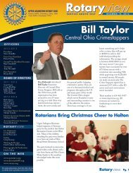 Newsletter - December 18, 2012 - Upper Arlington Rotary Club