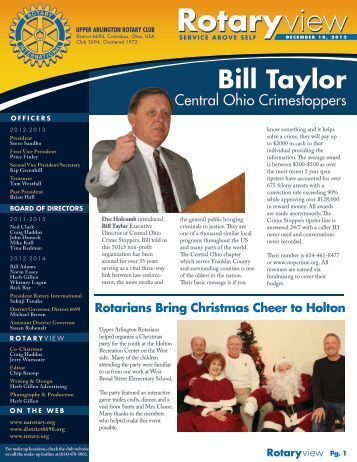 Newsletter - December 18, 2012 - Upper Arlington Rotary Club