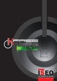 Brochure K-Free - Iseo Serrature spa
