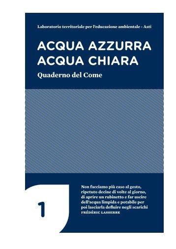 """Pubblicazione """"Acqua azzurra acqua chiara"""" - Regione Piemonte"""