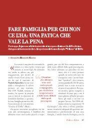 Fare famiglia per chi non ce l'ha: una fatica che ... - Volontariato Lazio