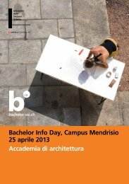 Campus Mendrisio - Università della Svizzera italiana