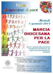 In cammino verso la marcia per la pace del 1 ... - Diocesi di Brescia