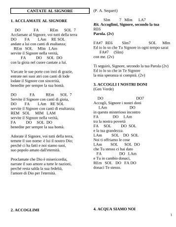 Libretto Canti con accordi x chitarra - parrocchia GESU' BUON ...
