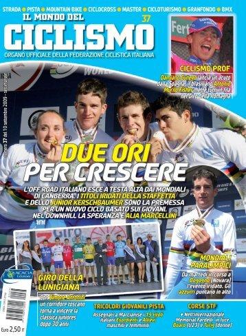 DUE ORI PER CRESCERE - Federazione Ciclistica Italiana